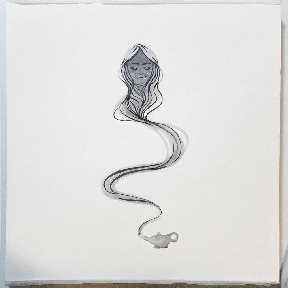 Inktober 3: flow