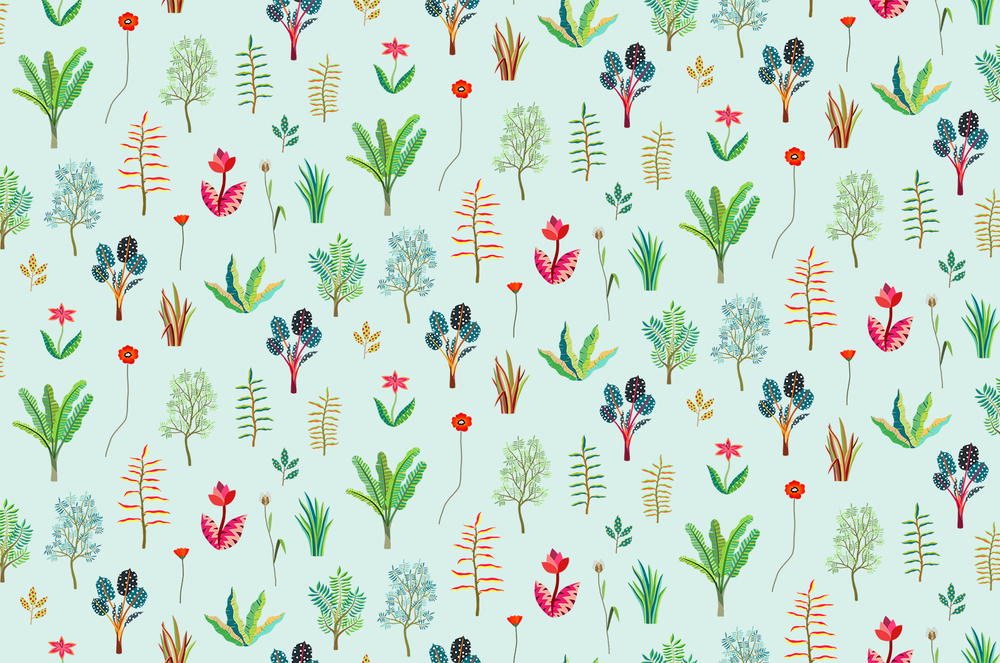 Hvass&Hannibal's  Herbarium  pattern takes the forest as its main theme and the pattern depicts flowers, clusters of leaves and branches in a style reminiscent of pressed flower samples (hence the name).