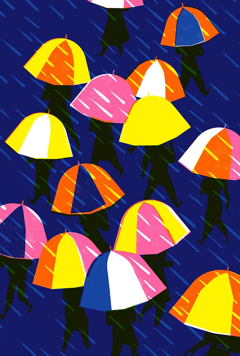 Virginie Morgand | Crowd #4, Umbrellas