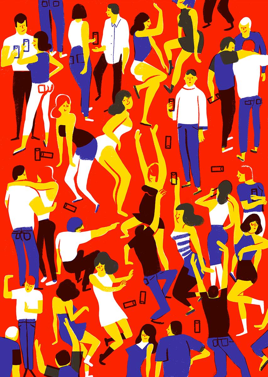 Virginie Morgand | Crowd #3, Party