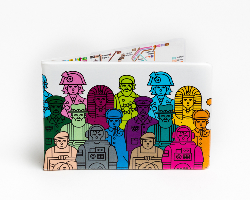 Edward Carvalho-Monaghan | TfL Year of the Bus Oyster card holder. Limited edition print available  here .