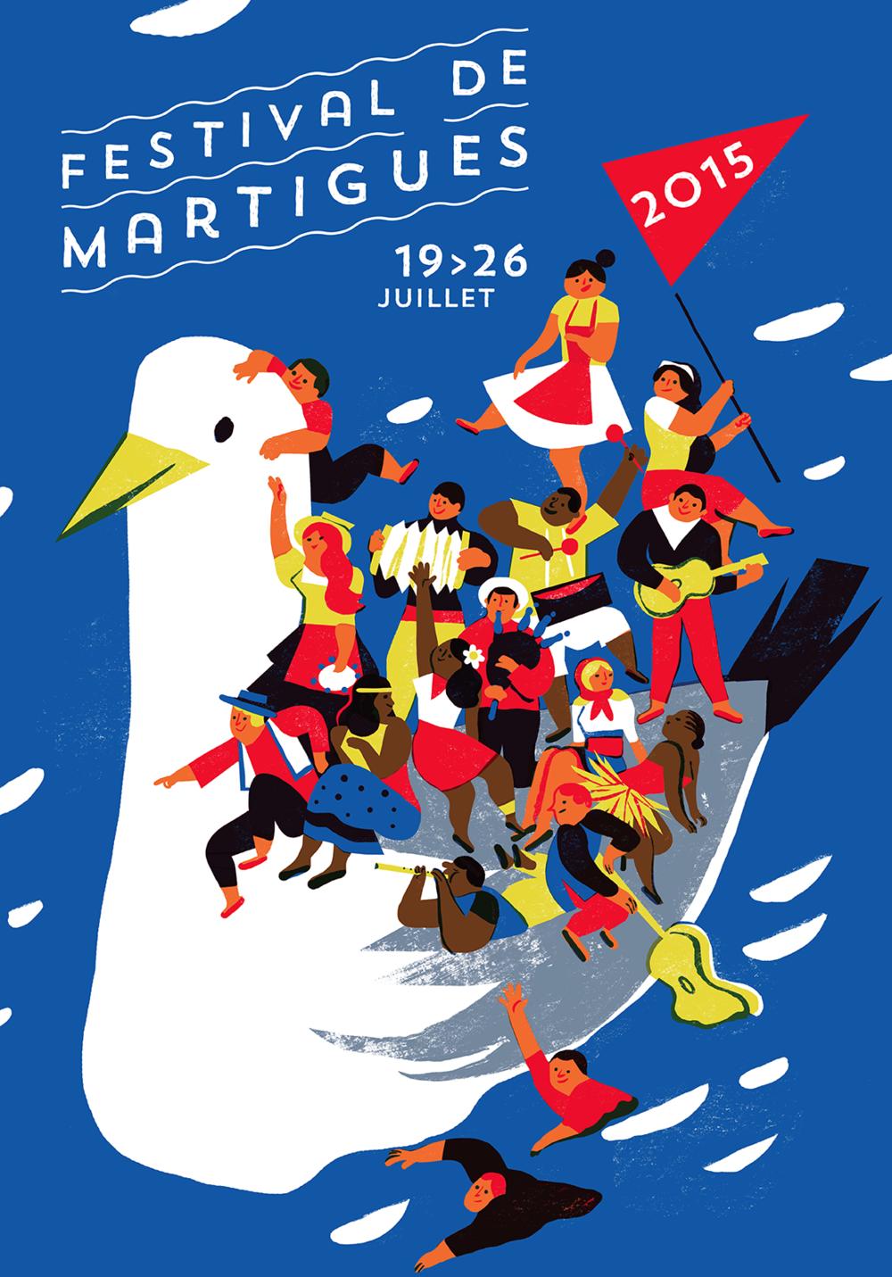 Virginie Morgand | Poster for Festival de Martigues 2015