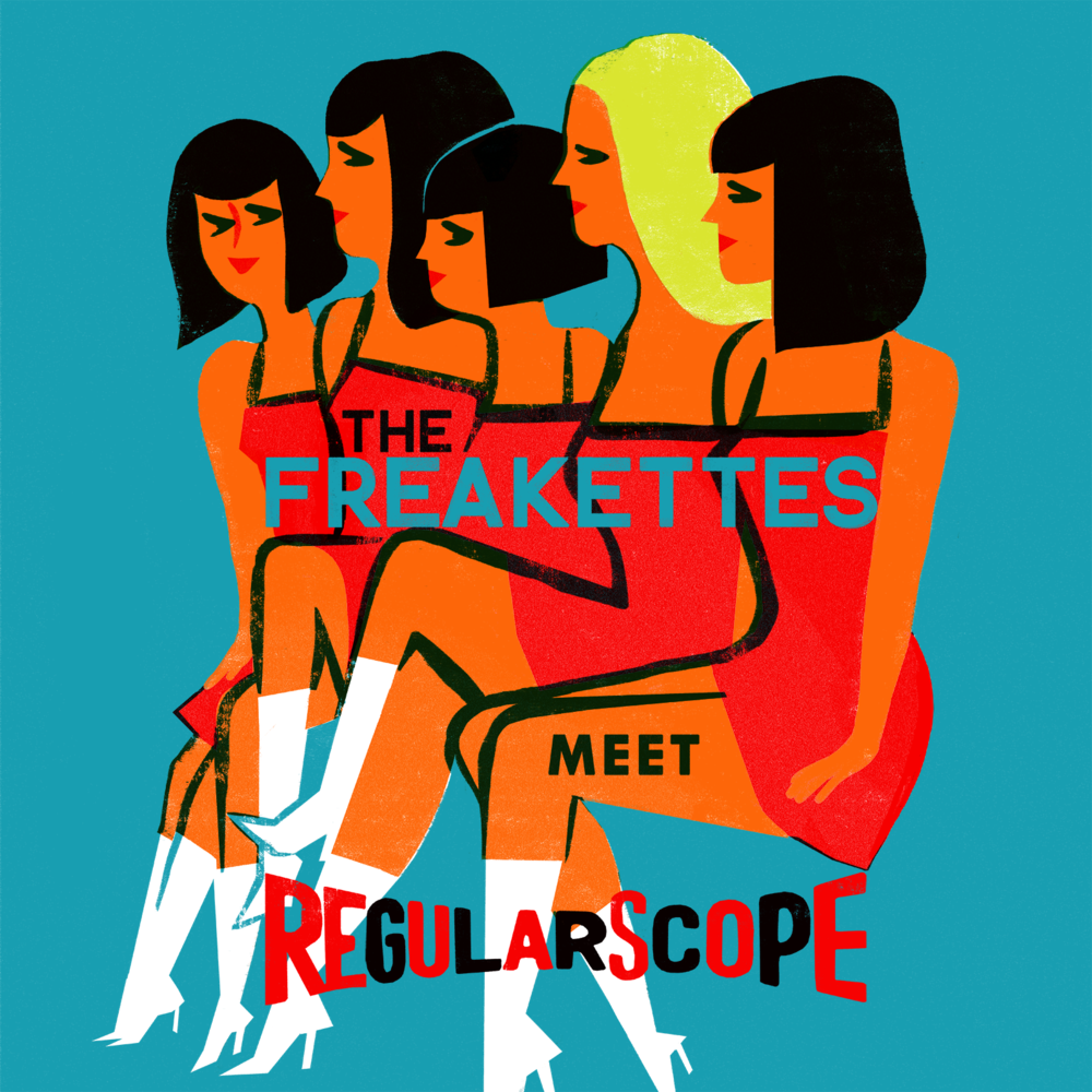 Virginie Morgand | Record sleeve for The Freakettes