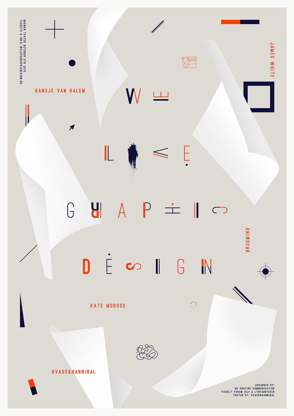 Hvass&Hannibal | A1 poster (and identity) for We Love Graphic Design