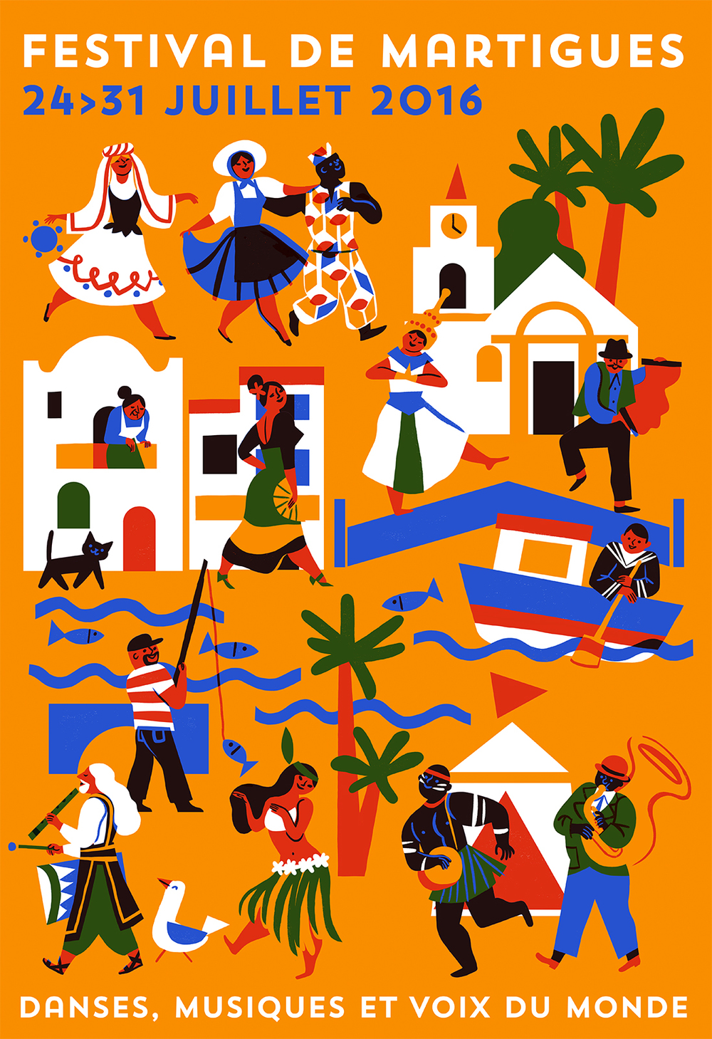 Virginie Morgand | Poster for Festival de Martigues 2016