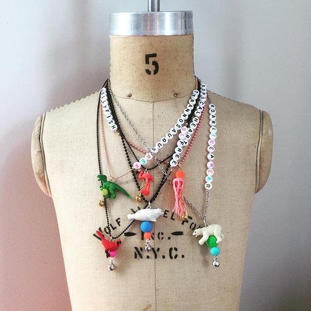 Meet my new friends... #brooklynkids #kidsjewelry #bushwickkids #kidstyle #funjewelry #brooklynstyle #brooklynfashion #kidsjewelry #handcrafted #brooklynhandmade #colorpop