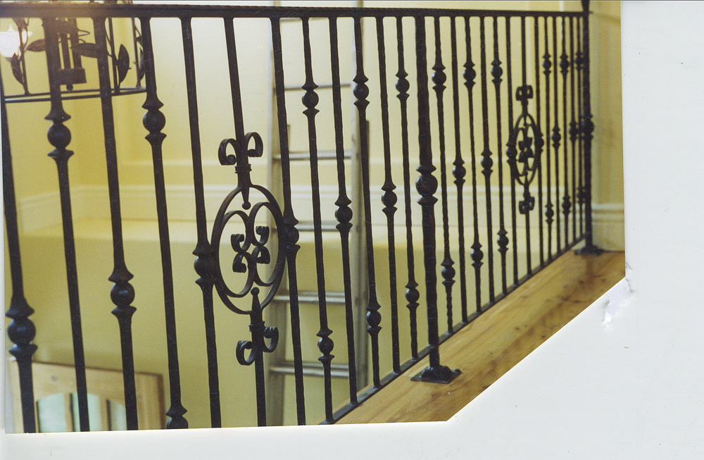 ornamental iron rail