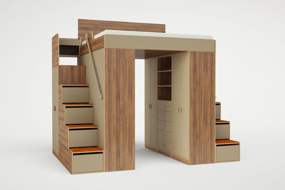 urbano king loft bed casa collection rh casacollection com king size loft bed with stairs king size loft bed for adults