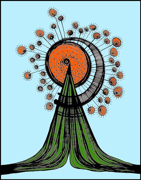 VEGETACION ESTELAR Siempre he pensado como serían los árboles en una galaxia lejana, en una constelación distante. Esta podría ser una versión ó mi versión de un árbol en la Andrómeda.