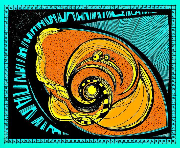 Turbulencia Ocular 2014    El ojo es uno de los órganos más importantes del ser humano. Algunos se atreven a decir que son la ventana del alma. Todo un universo en esta pieza que podría caber en el ojo, un universo turbulento, y a la vez calmo...