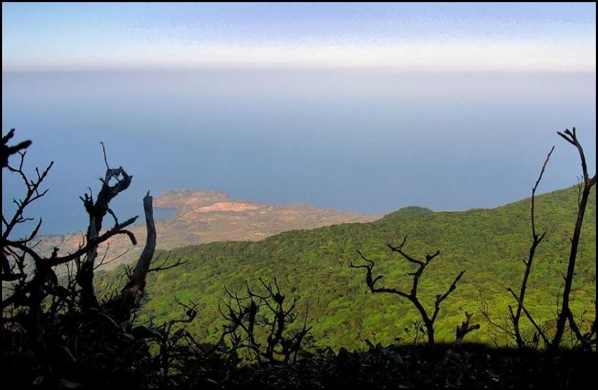 40- Maderas Volcano, Ometepe Island- View from the summit to  Lake Nicaragua.