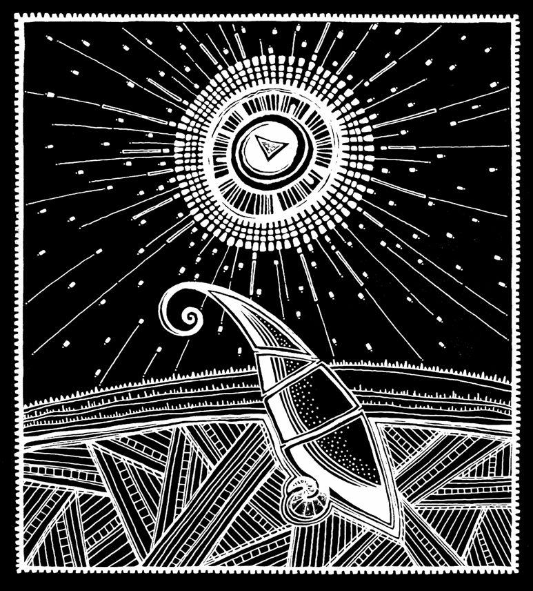 """Tarjeta Navideña 2014   -""""Nueva Vida"""" Con este dibujo quise representar el nacimiento de una nueva vida, al nacer Jesús nos trae nueva vida. Lo que está encima sería como el cubrimiento de la trinidad, que es el Espiritu Santo, Dios Padre y Dios Hijo. Todo esto esta representado por el triángulo, rodeado por un cáliz."""