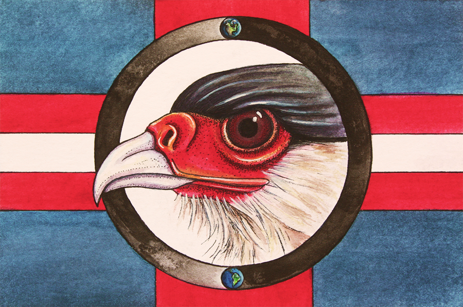 Caracara Mexican Eagle for Immigrants' Rights