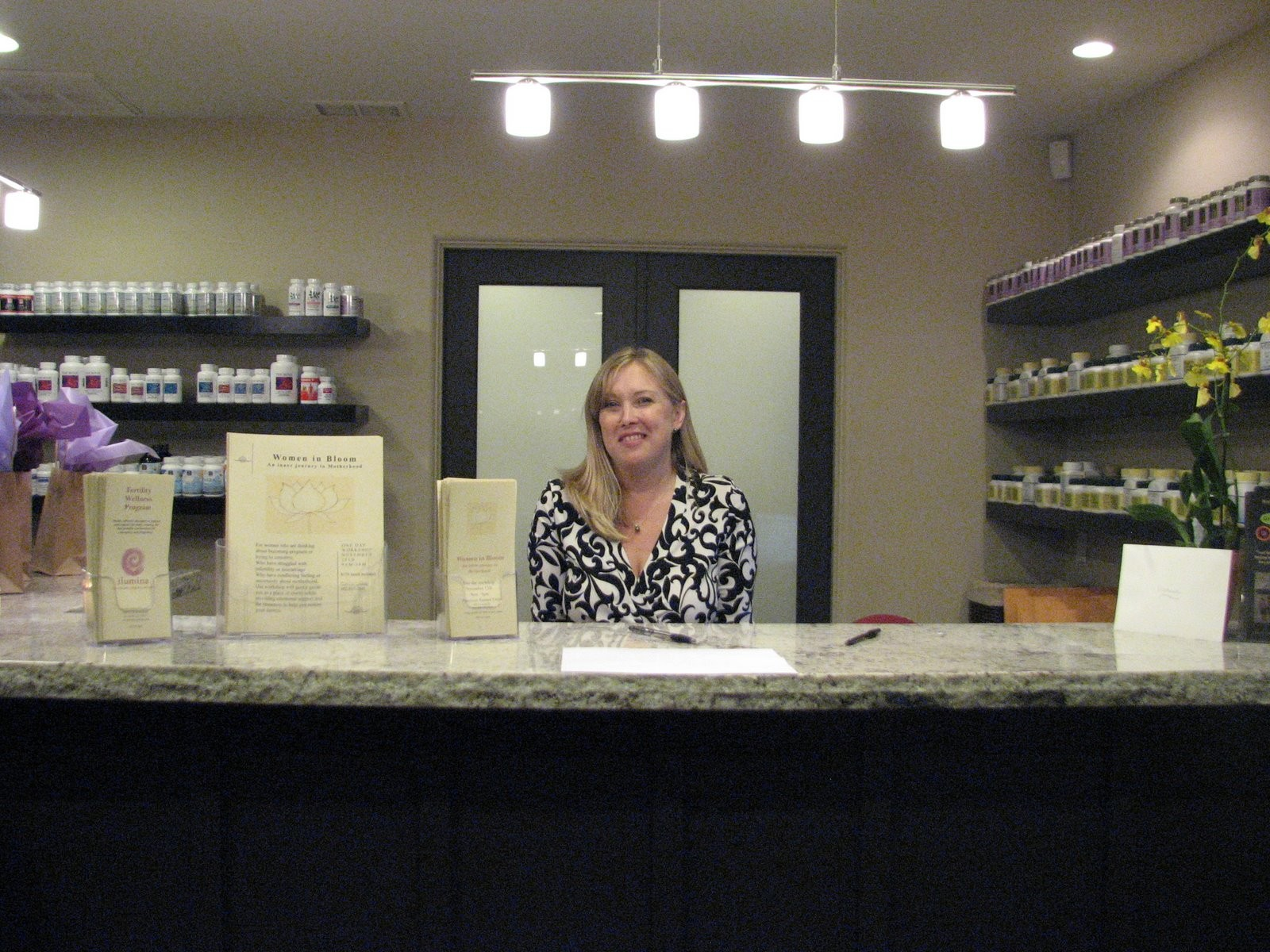 Lisa (office manager) in front office