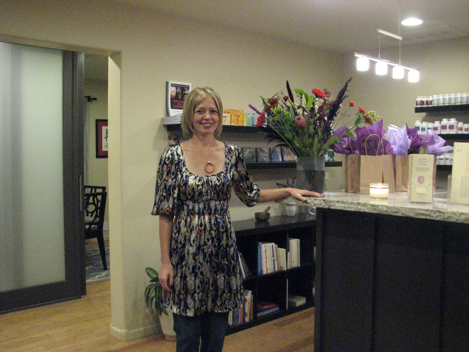 Sherri Taylor L.Ac. in front office