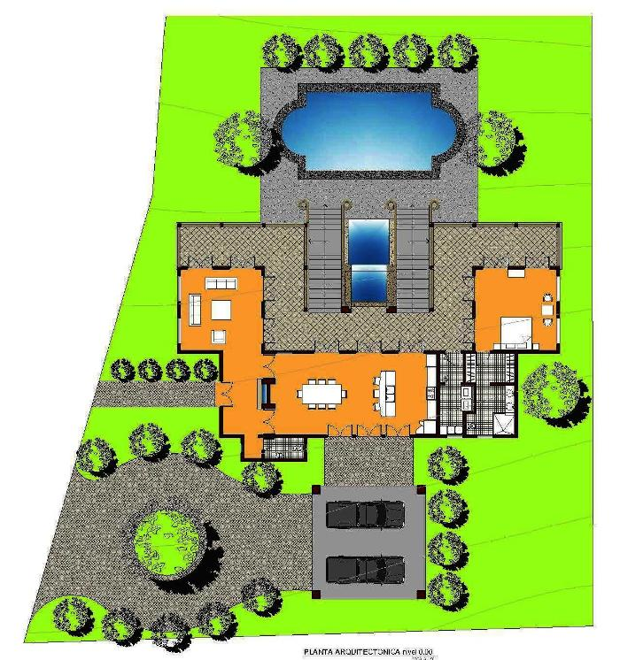 Casa Guanacaste Main Level Floorplan Custom Home
