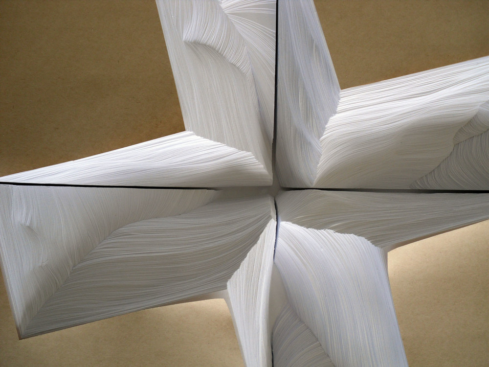 """Topographs (Displaced),  1 out of series of 3, 2010, handcut office paper, 17""""x22""""2"""""""