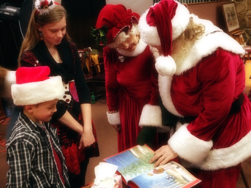 Santa and Mrs. Claus loved their gift! ©2013