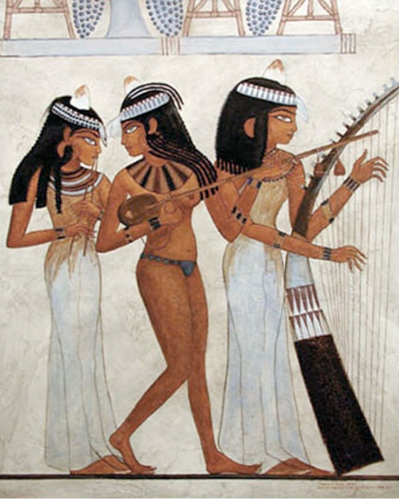 Musicians in ancient Egypt 1400 BC