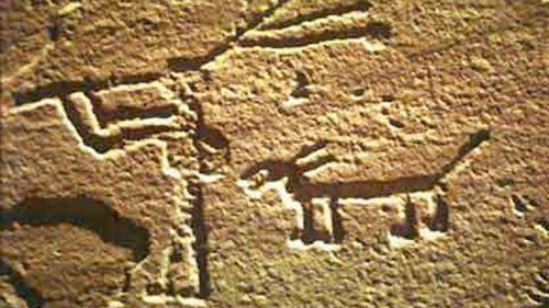 Hopi musician Kokopelli. 1100 BC
