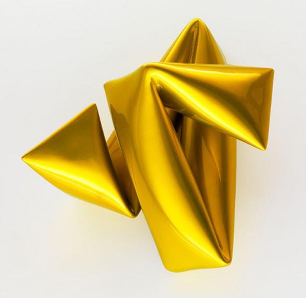Wandobjekt Gelb
