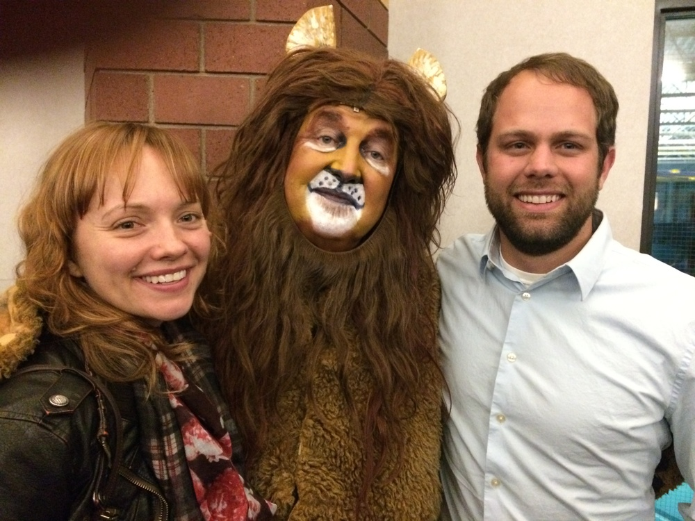 Day Three… Josh and I saw my uncle Pat play the Cowardly Lion in the Wizard of Oz. I think he had on enough makeup for the three of us.