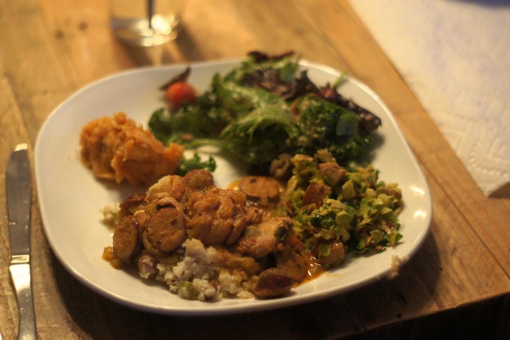 Full plate of good stuff.