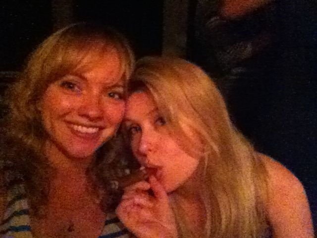 Sharing a cigar with my hunting guru, Georgia Pellegrini.