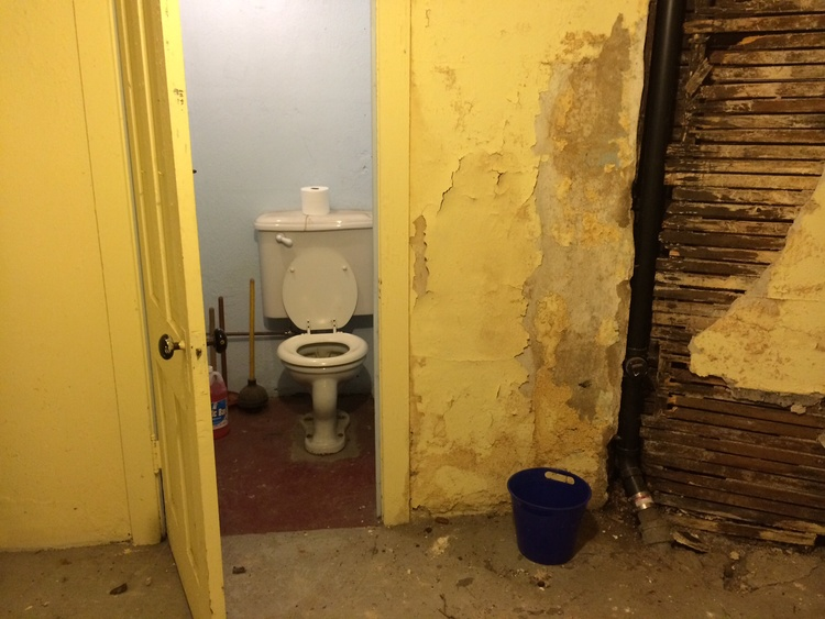 #40. Use the basement bathroom.
