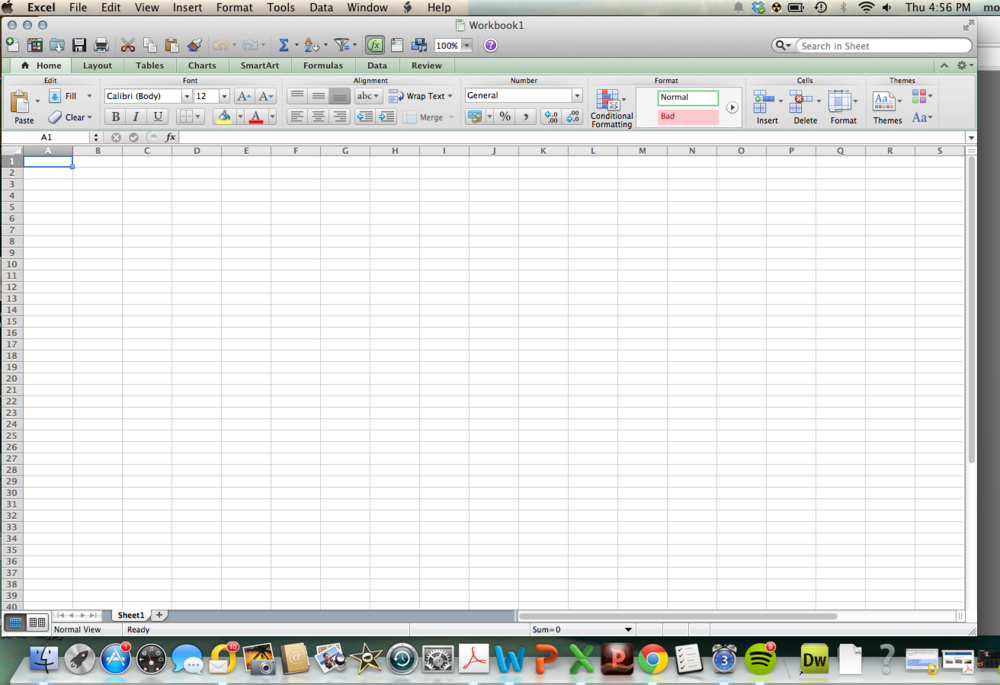 Just looking at this empty spreadsheet gives me the runs.