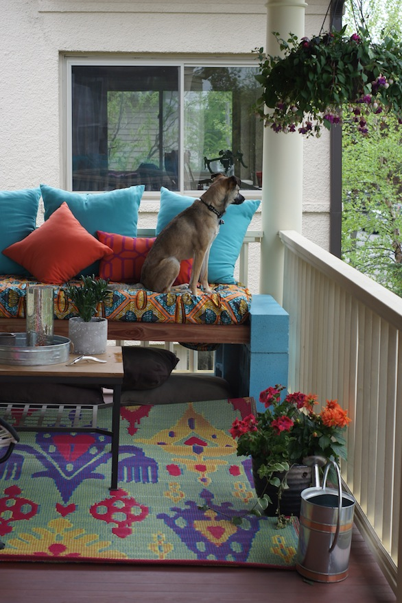 My own little peeping tom. | How to Make an Awesome Outdoor Space on a Budget