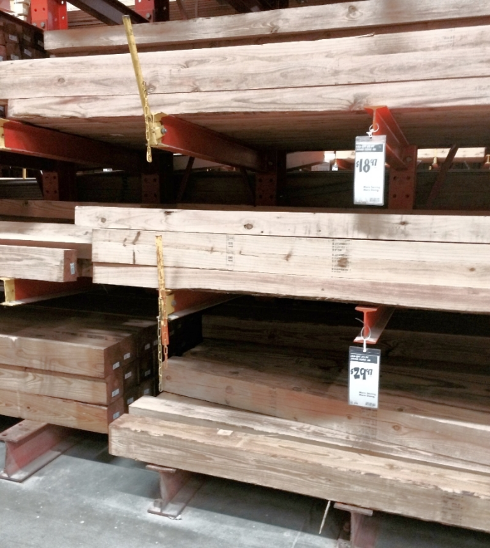 Here's the cedar-treated wood. Now we're talking.