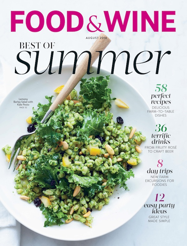 It's the August 2014 Food & Wine magazine... you should probably pick up a copy.