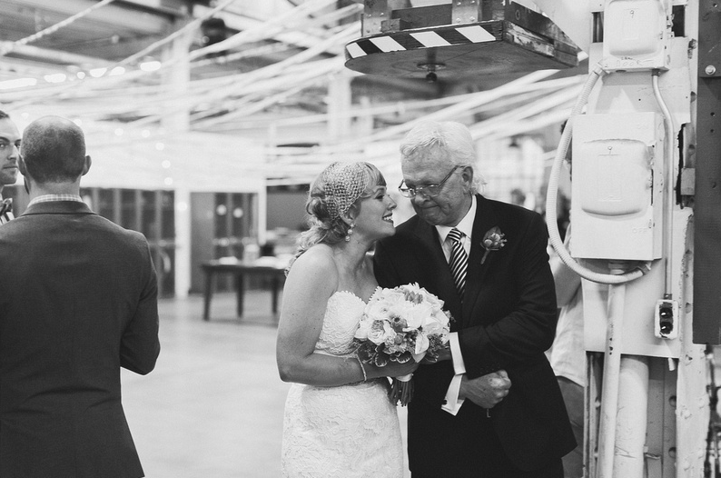 Obligatory emotional dad pic. Love this one! | Uppercut Boxing Gym Wedding - MPLS