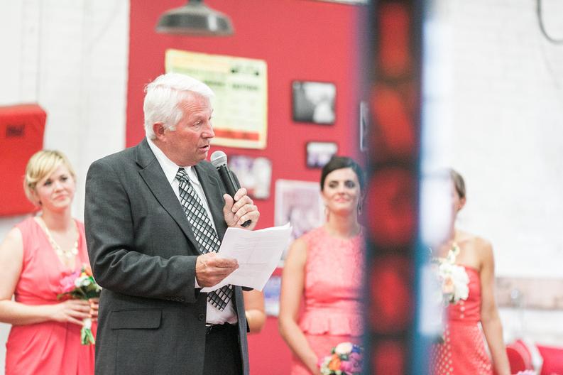 My Godfajah sharing a few words. |Uppercut Boxing Gym Wedding - MPLS