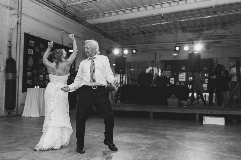Dancing with my dad | Uppercut Boxing Gym Wedding - MPLS