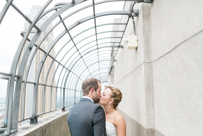 Hanging out on the Foshay's observation deck | W Hotel - MPLS - Wedding