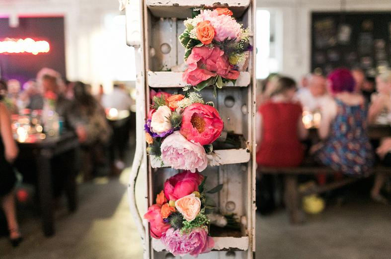 Flower stash |Uppercut Boxing Gym Wedding - MPLS