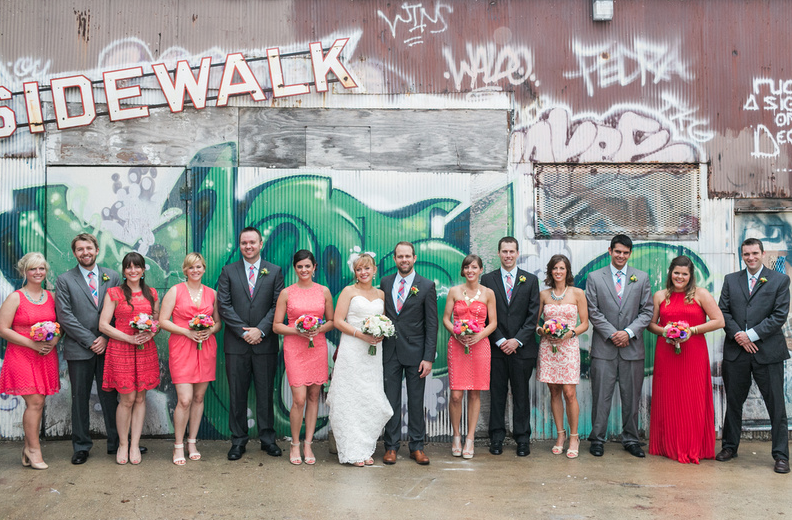 Our good lookin' wedding party | Uppercut Boxing Gym Wedding - MPLS