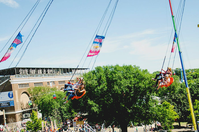 That's me in the baseball hat, screaming my face off. | Minnesota State Fair | Photo by Jen van Kaam