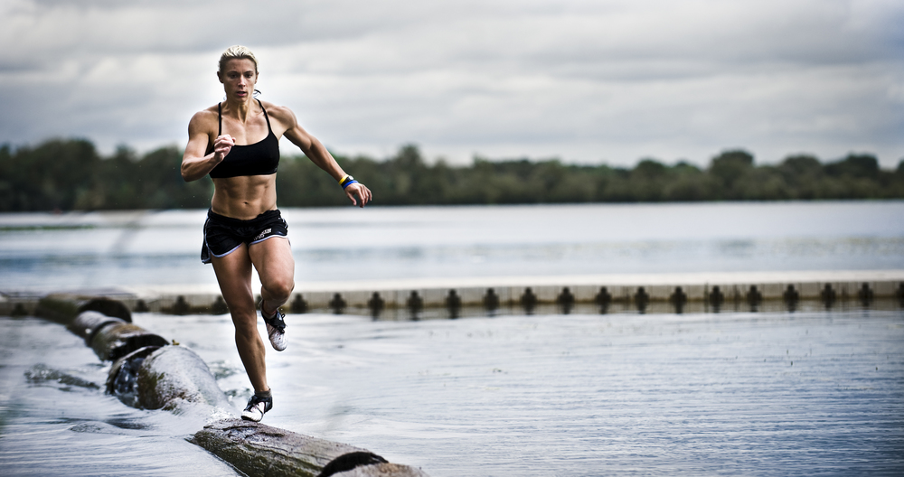 Shana doing a boom run. She makes it look easy. Also, those abs.