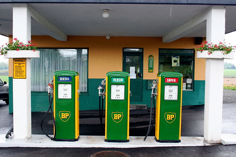 Not the station I was at, but also probably a weird place to refuel | Photo: BP bensinstasjon, Nøtterøy CC BY-SA 3.0