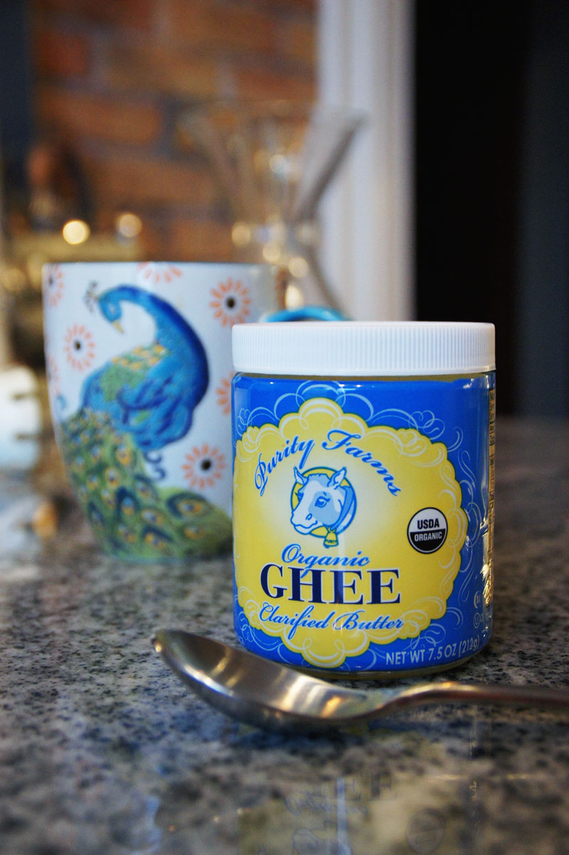 Ghee is available online or in your local grocery store, often times in the Indian dry goods section. Sometimes in the refrigerated section... though it doesn't need to be refrigerated.
