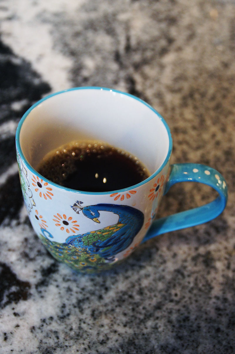 Black coffee from Blue Bottle-- a subscription service I can't get enough of!
