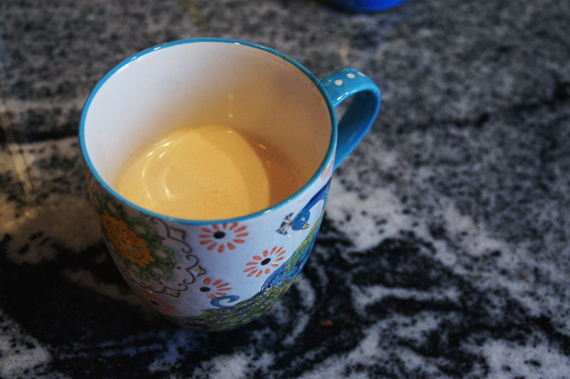 Perfectly frothy bulletproof coffee.