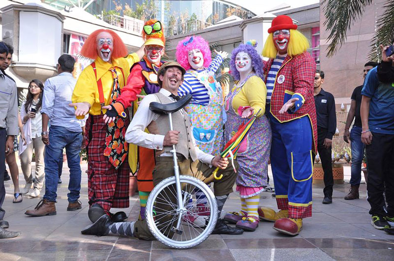 Dee Dee and friends at International Clown Fest in India.