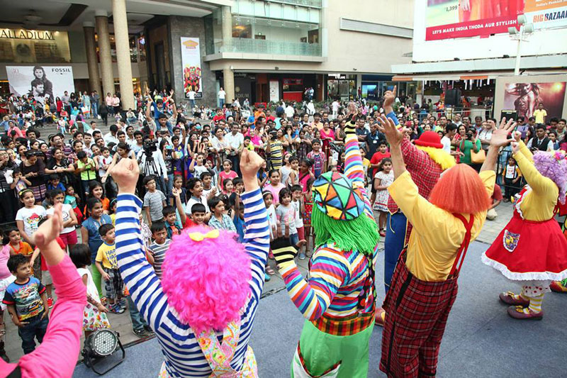 You'd think One Direction was in town or something. Nope, just clowns in India.