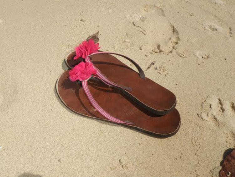 The obligatory flip flops on the beach shot.