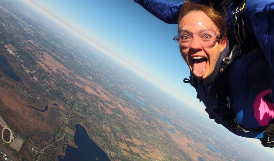Skydiving... not for wimps!