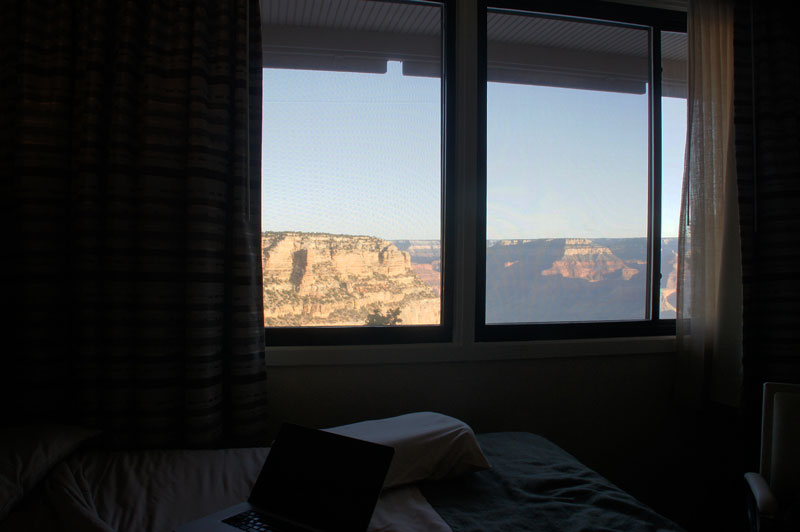 The view from Kachina Lodge made up for their shitty, flat pillows.